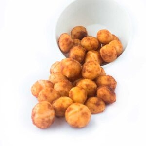 Macadamia tostada con sabor a curry
